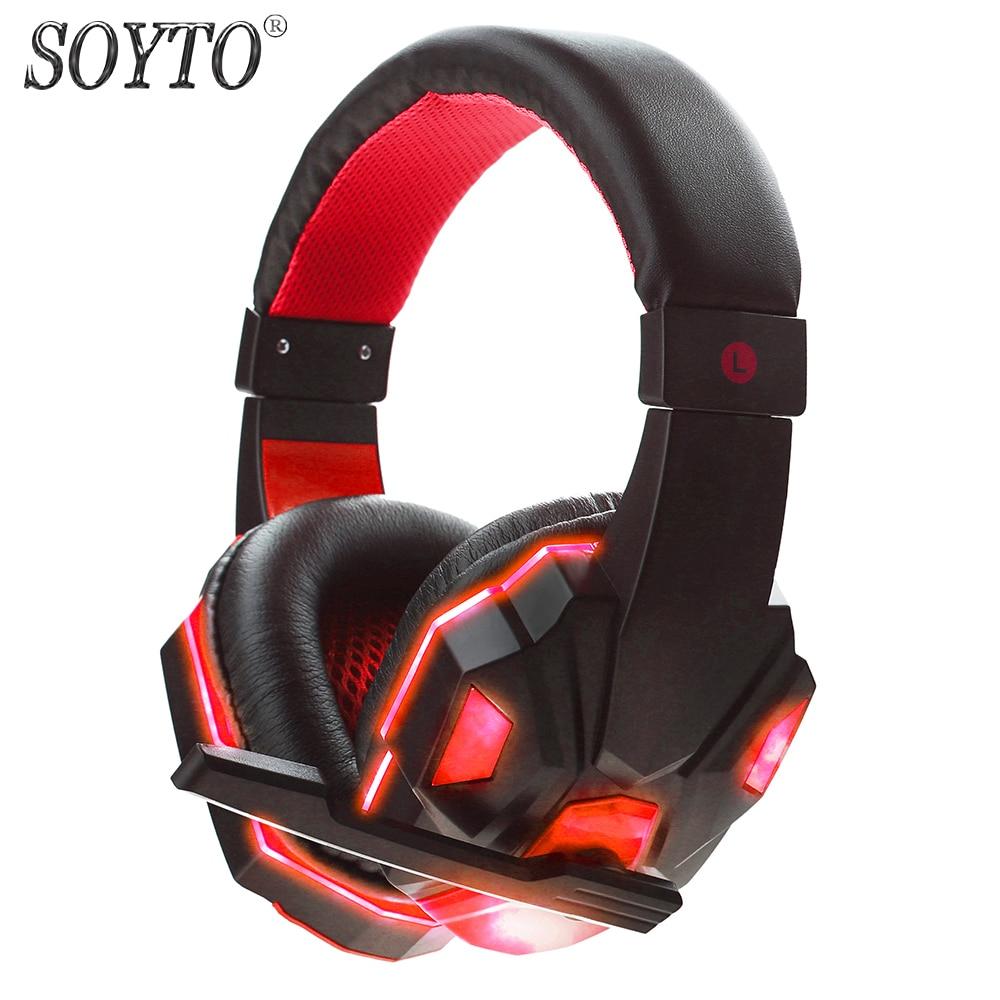 SOYTO SY830MV originaaljuhtmega kõrvaklapid PC LED Stereo bassiga - Kaasaskantav audio ja video - Foto 2