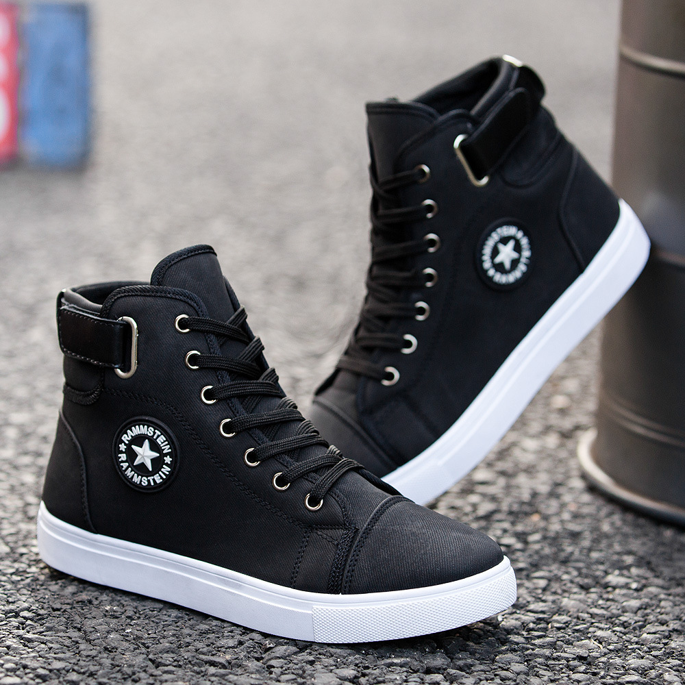 Koovan Men's Sneakers 2019 New Men's High-top Fashion Casual Inverness Men's Shoes Students Spring And Autumn Sports Boots