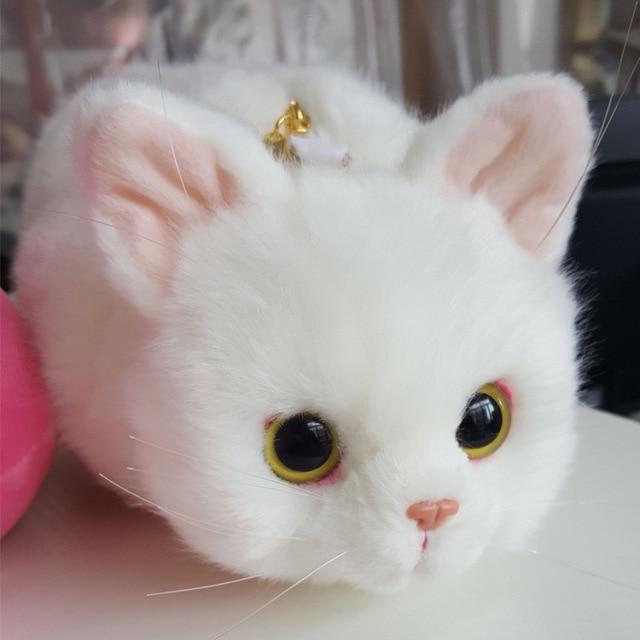 Pico gato negro gato blanco de tres colores gato felpa mochilas ...