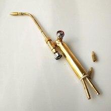 전문 미니 가스 용접 토치 30cm 긴 3 노즐 0.6/0.7/0.8mm 공기 상태 냉장고 보석 납땜 납땜