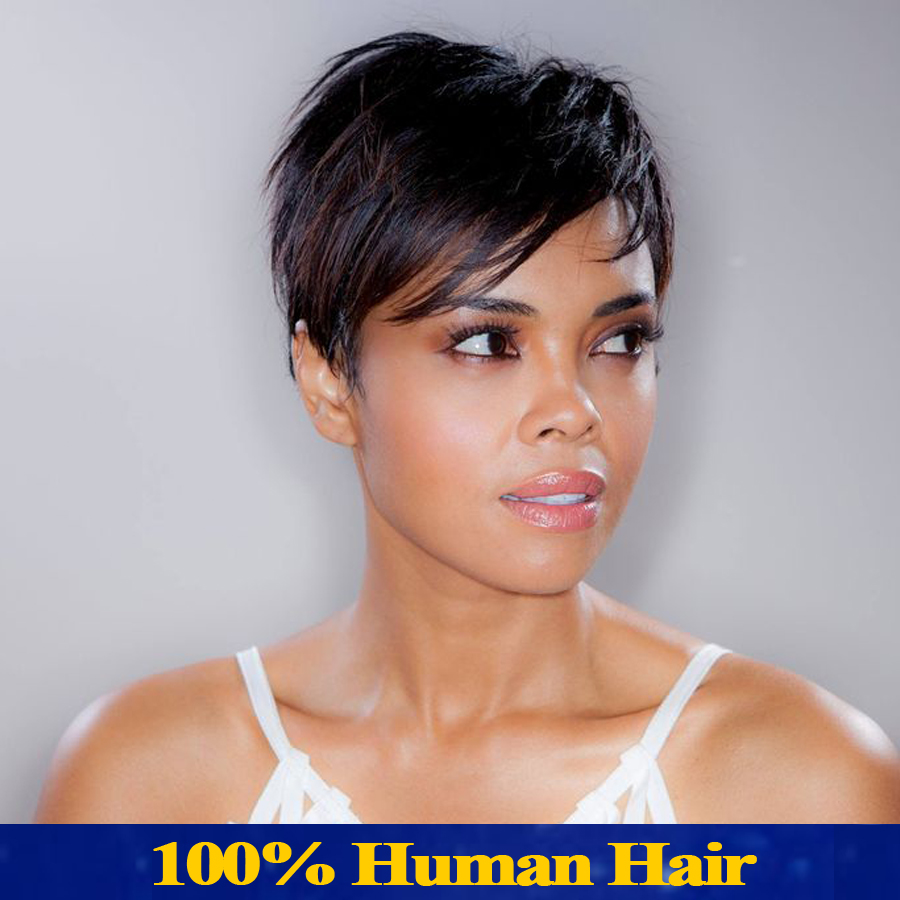 brazilian virgin human hair short wig for black women human hair