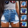 Fashion Women Jeans Sexy Hot Pants Summer Casual Denim Shorts Jeans Mid Waist Short Women Jeans Plus Size S M L XL XXL XXXL