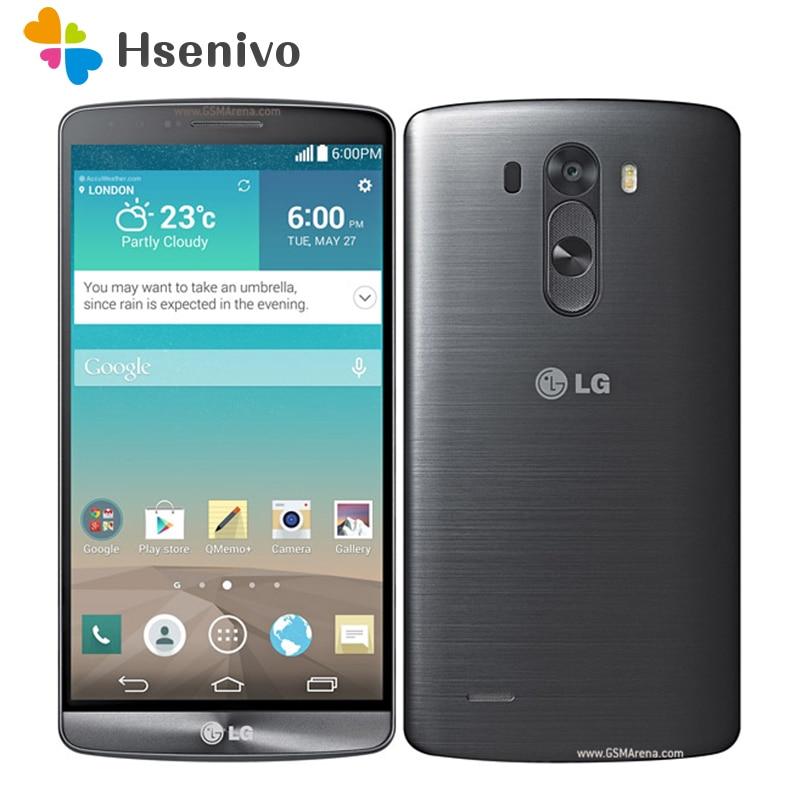 100% Original Unlocked LG G3 D855 D850 D851 GSM 3G&4G Android Quad-core RAM 3GB 5.5 inch 13MP Camera WIFI GPS 16GB Mobile Phone