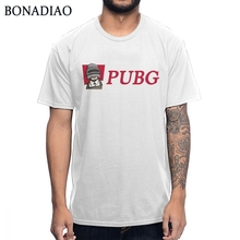 Unisex PUBG T shirt Player Unknowns Battlegrounds Chicken Winner Level 3 Helmet Unique Design Summer Fashion Streetwear T-shirt