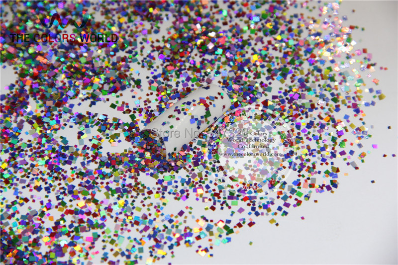 QL214-107 Mix laser holographic colors Square shapes and Stone Pebble  spangles glitter  for nail   Art DIY decoration 1pack=50g tcf510 solvent resistant neon rose carmine color mickey mouse shape spangles for nail polish and other diy decoration1pack 50g