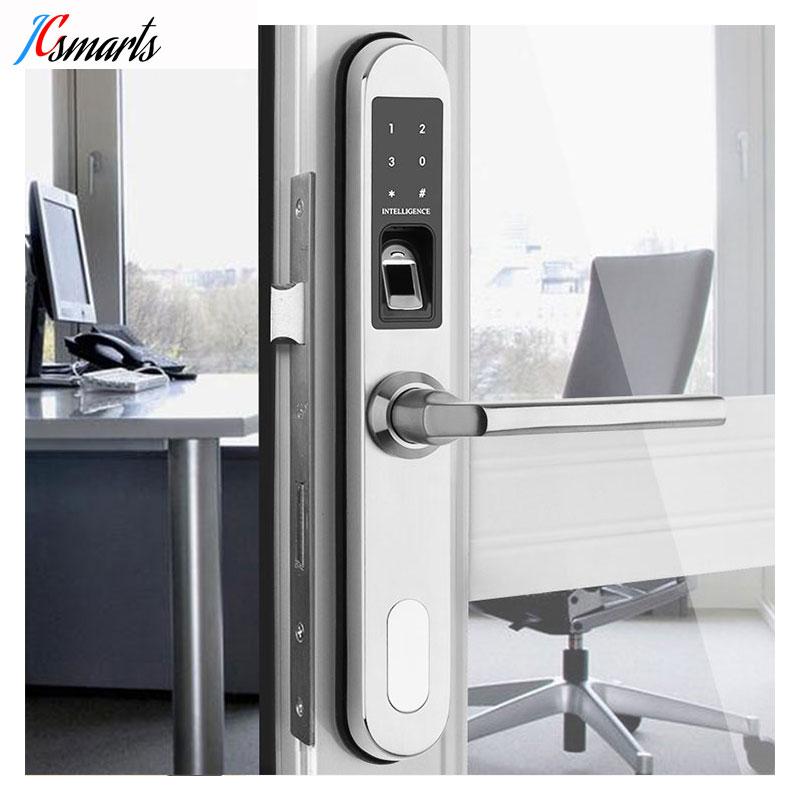 Jcsmarts полностью водостойкие нержавеющая сталь электронный биометрический дверной замок замки для алюминий стекло ворота двери