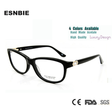 New 2015 High Quality Fashion oculos feminino Hand Made Eyeglasses Frames for Women Pearl Rhinestone Luxury Ladies
