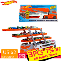 Hot Wheels 2018 Heavy Transport Vehicles 6 Layer Diecast Toy Car Scalable Storage Transporter Truck For Boys Toys For Children