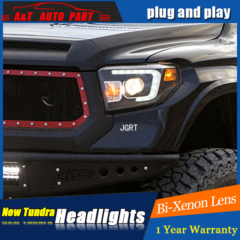 Auto part Style LED Head Lamp for Toyota Tundra led headlights 09-11 for Tundra drl H7 hid Bi-Xenon Lens angel eye low beam for volkswagen polo mk5 vento cross polo led head lamp headlights 2010 2014 year r8 style sn