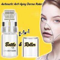 Automatic Anti-Aging Derma Roller Dermaroller -0.25mm Titanium Micro Needle Roller Remove Freckle,Acne,Scars,Anti-Aging Skin Care