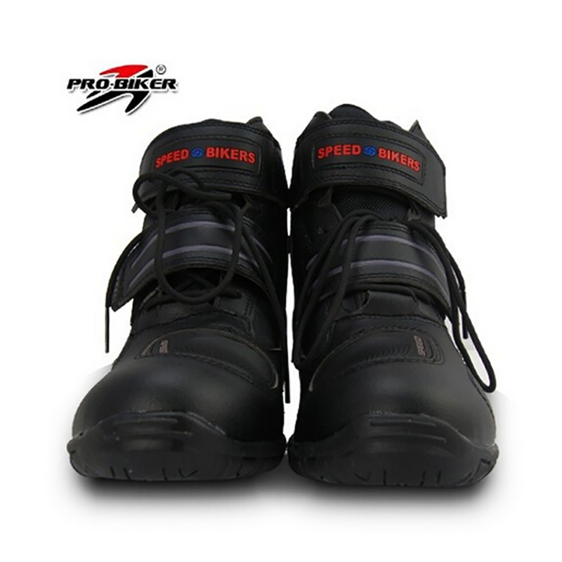 Pro biker SPEED Motorcycle Boots Moto Racing Street Riding Motocross Motorbike Shoes A005 3 colors size 38/39/40/41/42/43/44/45 pro biker travel riding boots motocross motorcycle boots motorbike off road botas moto motorcycle equipmen black size 40 45