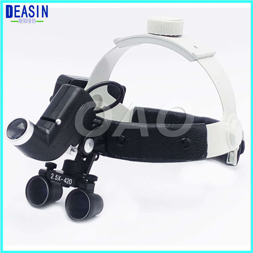 OAO High quality 2.5X Dental Loupes Medical Magnifier Dental Loupes Operation lamp surgical headlight hot sale 2 5x medical magnifier all in ones operation lamp surgical headlight and dental loupes