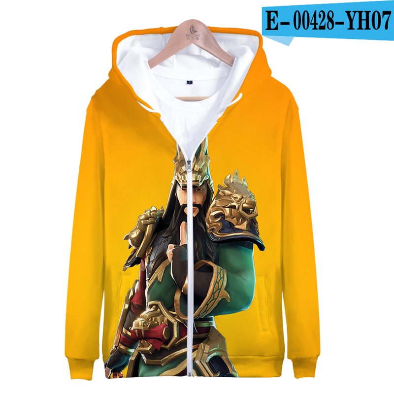 Zipper Fortnited Battle Royale Hoodie Hooded Moletons Pullover Game Clothes Zip Up Battle Royale Clothes Kid Clothes Streetwear