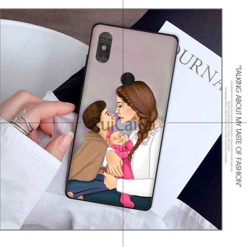 Ruicaica noir bébé super mère bricolage de luxe haut de gamme étui de protection pour Xiao mi mi Note 3 6 8 8SE mi X 2 S rouge mi 5 Plus Note 5