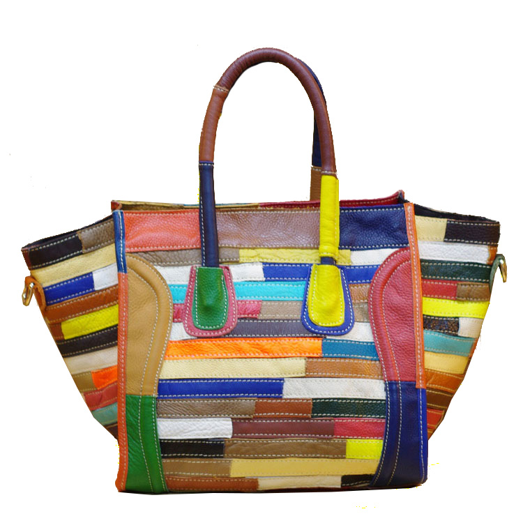 The new style of fashionable color of the fashionable color of the bag is the leather handbag of leather and leather free shipping fashionable strict application pulpit of the church acrylic technology