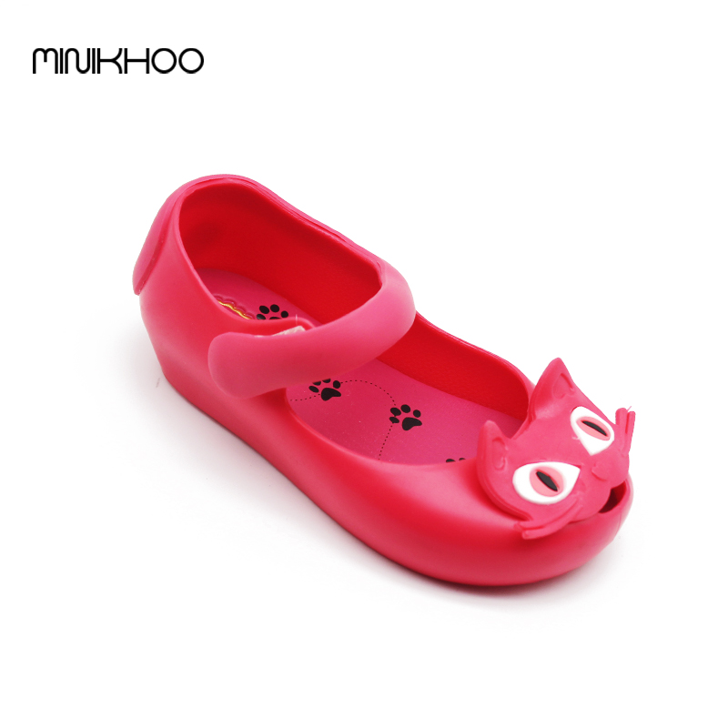 Mini Melissa 2017 Original Cats Sandals Soft Comfort Cat Shoes Melissa Jelly Shoes font b Rain