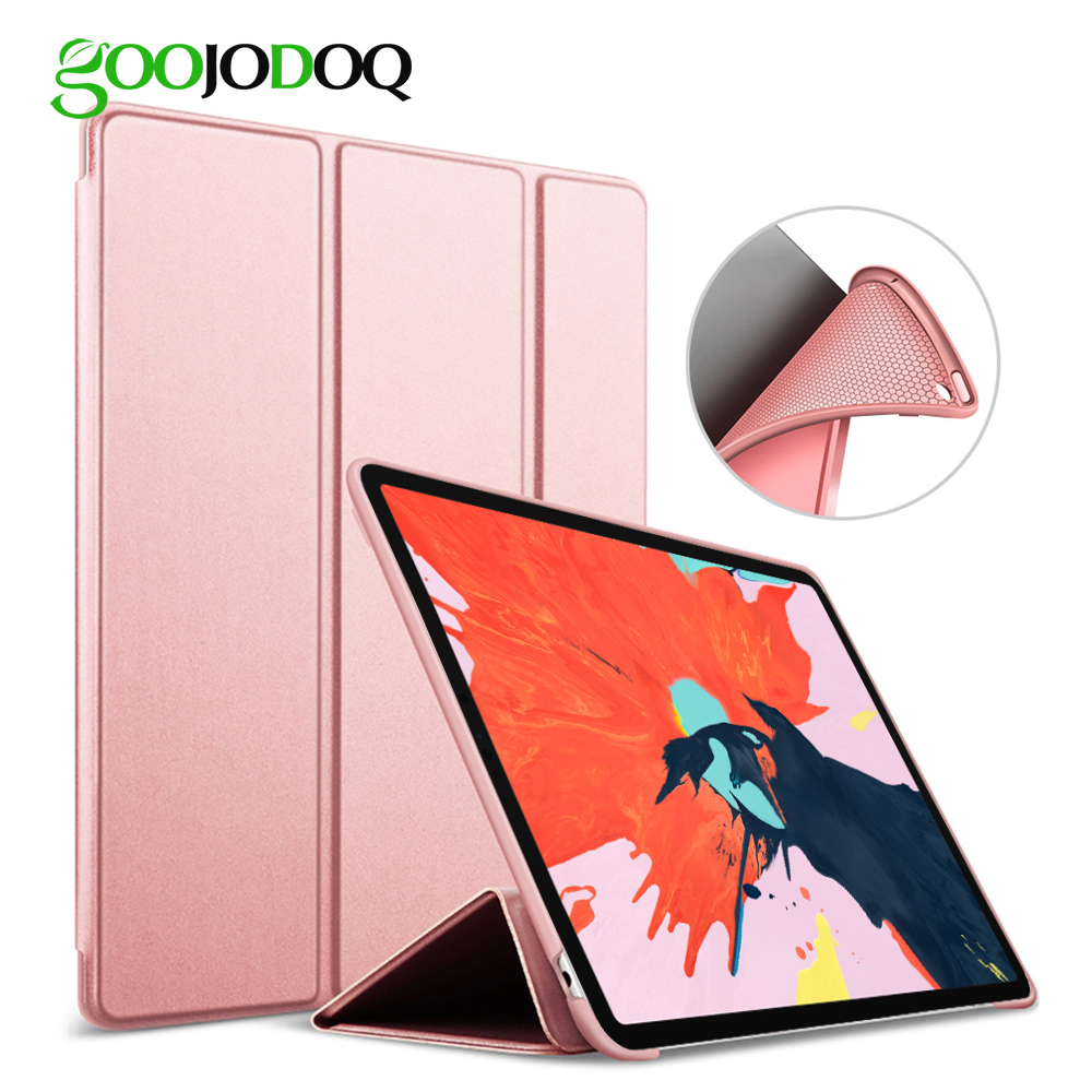 For iPad Pro 11 2018 Case,GOOJODOQ Ultra Slim PU Leather Smart Cover+ Soft Back Coque Funda for Apple iPad Pro 11 inch Case 2018 luxury ultra slim leather case cover for apple ipad pro 10 5 2017 fashion simple solid flip stand case protective shell funda