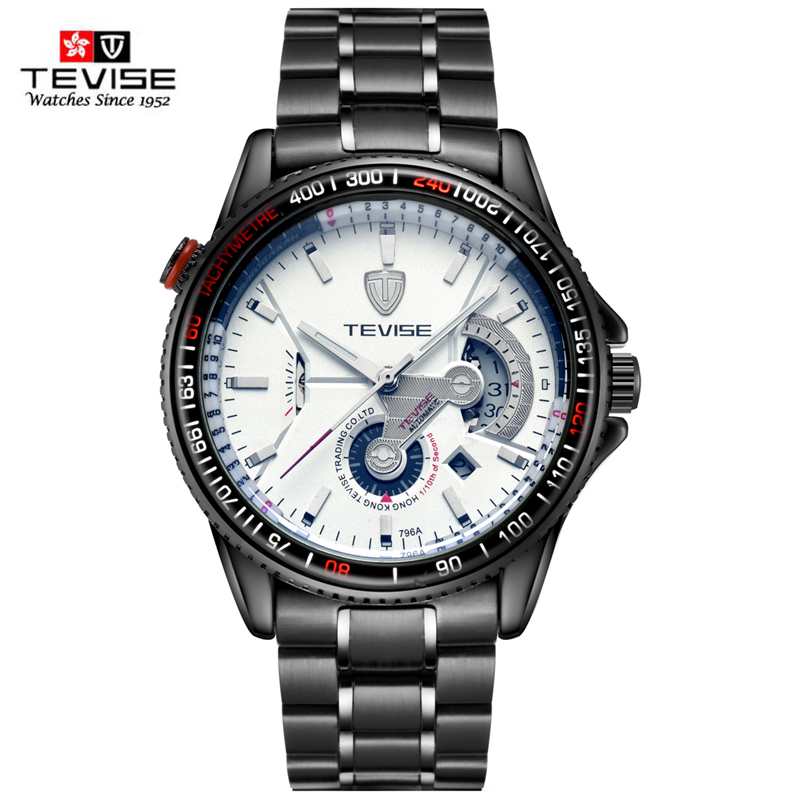 TEVISE New Arrival Brand Auto mechanical 30M Waterproof Business Auto Mechanical watch 796A Men watch Montre Homme Clock Men