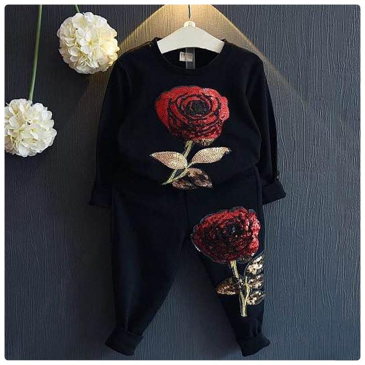 2016 Korean Children's Garment Autumn 2 Pieces Set New Pattern Girl Baby Will Flower Haren Sweater Pants Leisure Time Suit решение граничных задач методом разложения по неортогональным функциям