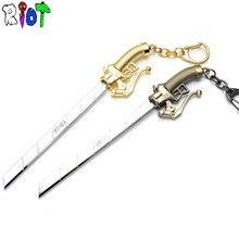 16 cm cartoon anime Attack on Titan keychain The survey corps weapon model Knife