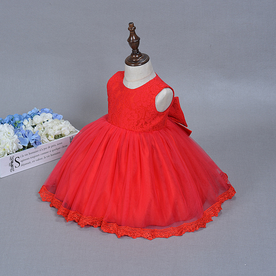 Letnia dziewczynka sukienka do chrztu Niemowląt Princess Dress 1st - Odzież dla niemowląt - Zdjęcie 1