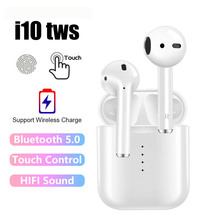 i10 TWS Wireless Touch Bluetooth 5.0 Earphone AirDots Stereo Earbuds Headset With Mic for iPhone Samsung Xiaomi Huawei