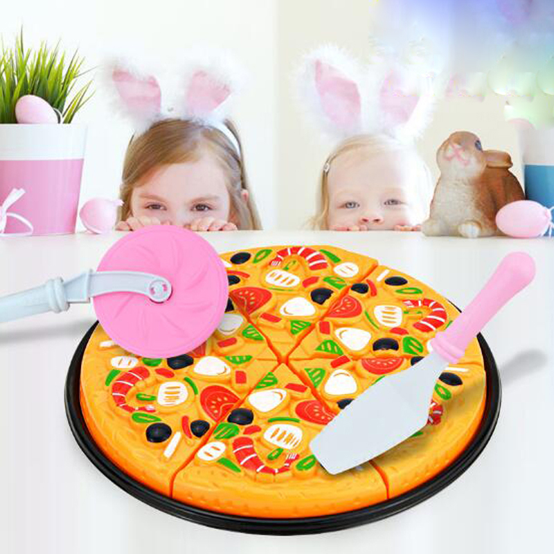 Careful Kawo Minitudou Plastic Miniature Food Cut Vegetables Toy Pizza Kids Pretend Play Educational Kitchen Toys For Girls And Boys Volume Large Pretend Play Toys & Hobbies