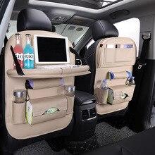 PU Leather Car Back Seat Organizer Car Seat Tray Accessories Organisateur Siege