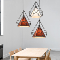 Modern Simple Nordic Restaurant Chandelier Iron Lamp Diamond Shape Creative Personality Chandelier