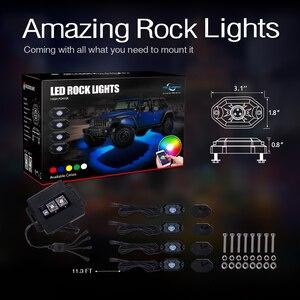 Image 5 - MICTUNING 4 Pods samochodów RGB LED Rock oświetlenie dekoracyjne w/Bluetooth kontrola aplikacji funkcja odliczania czasu tryb muzyczny Multicolor neonowe lampy zestaw