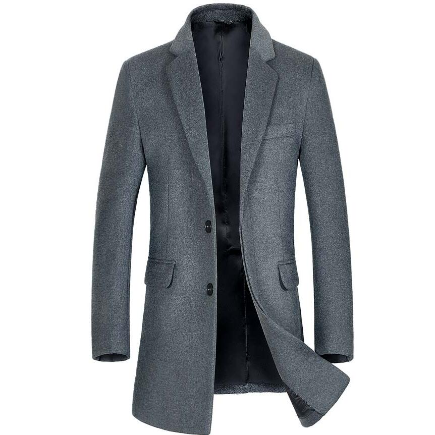 new 2017 winter casual Wool coat for men jacket 6482a