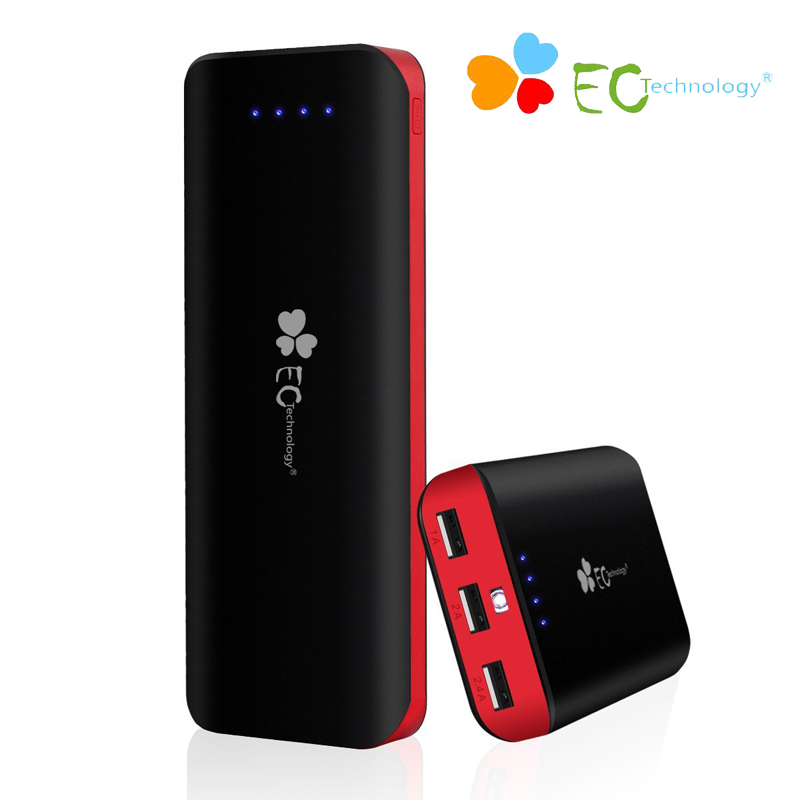 Power bank Portable Charger EC Technology Universal Mi Powerbank 16000 mAh External Battery Bank 3 USB