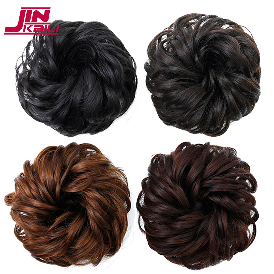 Us 2 54 49 Off Jinkaili Curly Chignon Hair Tails Natural Fake Hairpieces Women Hairstyles Heat Resistant Synthetic Hair Pieces Hair For Women In