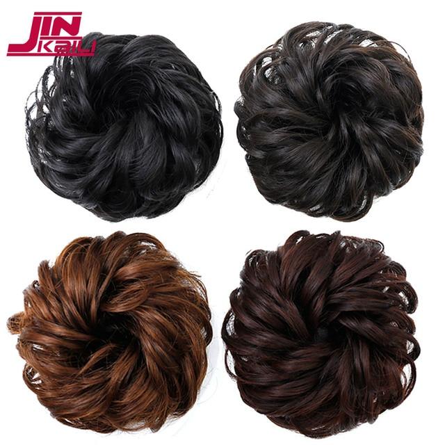 JINKAILI Curly Chignon Hair Tails Natural