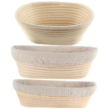 3 Sizes Oval Dough Banneton Brotform Dougn Rattan Bread Proofing Proving Baskets Tools 1PC(China)