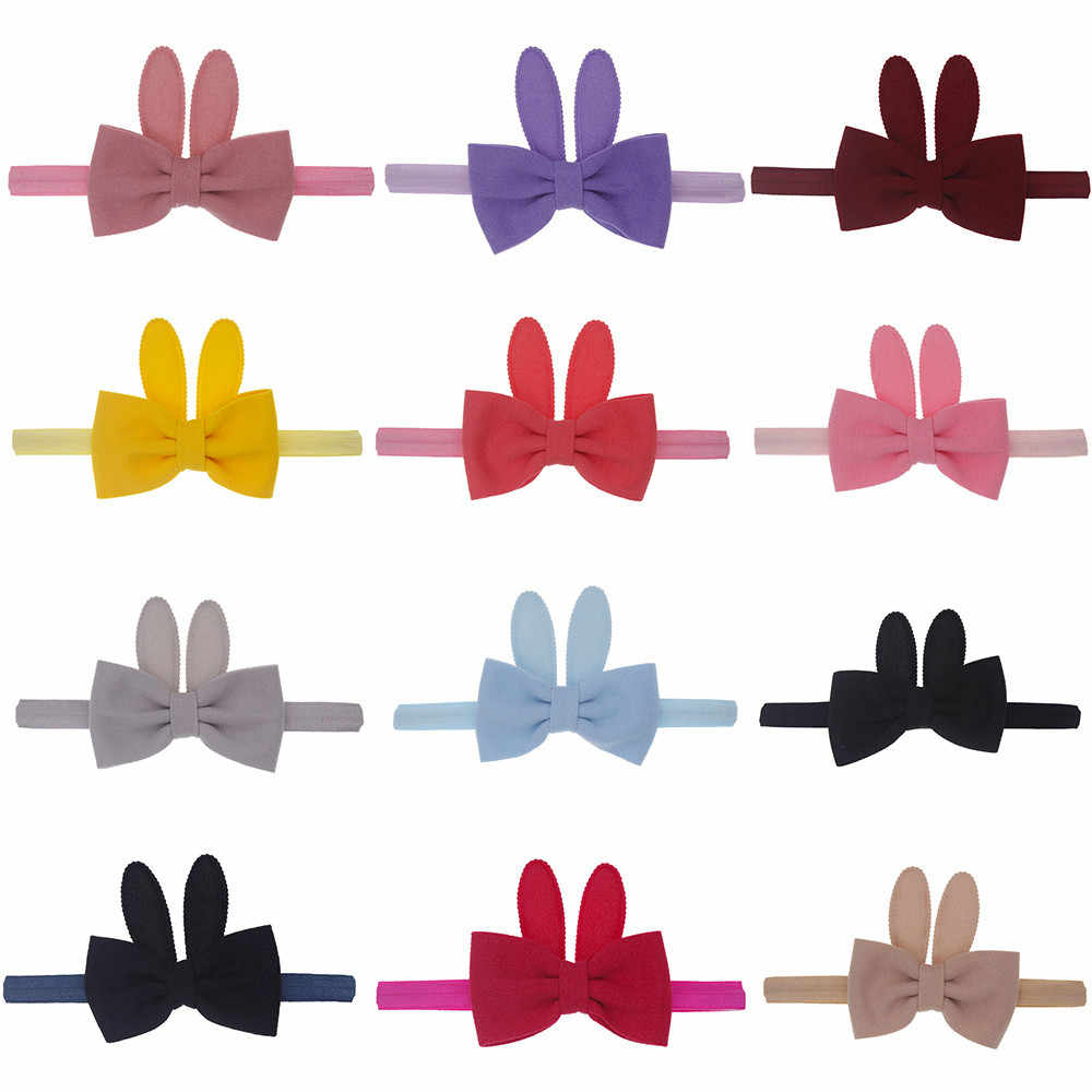Для маленьких девочек с заячьими ушками Упругие волосы Глава Hairband Phtography Реквизит повязка Дети тюрбаны Accessoire оголовье ребенка головной убор