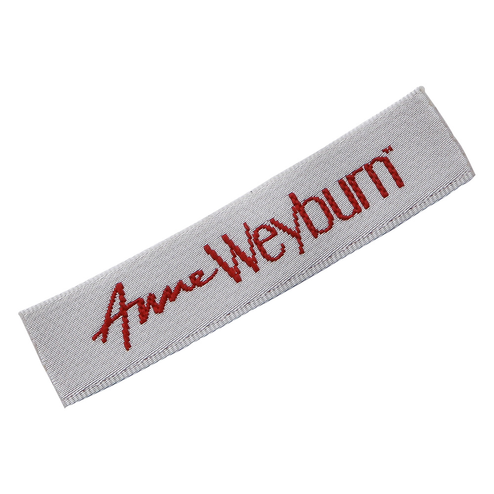 Customized fabric weave labels for clothes custom sewing tags for Home textiles woven label for pants