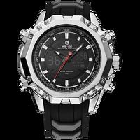 Schocker WEIDE Mens Relógios Top Marca de Luxo Relógio de Quartzo Relógio De Pulso Analógico Digital À Prova D' Água Esporte Relógio Automático 6406