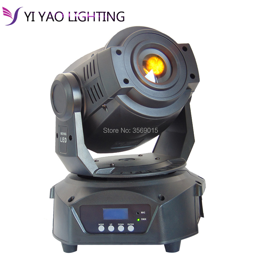 High Brightness 90w Spot Moving Head Light Led Gobo Stage Lighting Disco Light 90w Gobo With 3 Face Prism Moving Heads