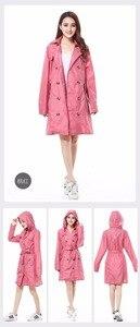 Image 4 - FreeSmily New Fashion Brand Fashion Big Size Women Thin Poncho Ladies Waterproof Long Slim Raincoat Adults Rain Coat With Belt