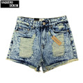 High Waist Denim Shorts For Women Hot Sale High Waisted Short Jeans Ripped With Holes No Stretched Shorts Plus Size M~4XL K2 K9