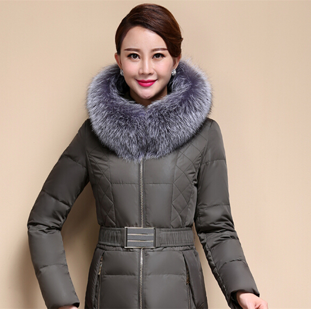 Wholesale 100cm gray real silver fox fur collar hat article unisex