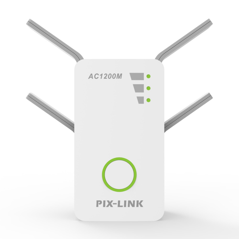 PIXLINK 1200Mbps 2.4GHz 5GHz Dual Band AP Wireless Wifi Repeater Range AC Extender Repeater Router WPS With 4 External Antennas