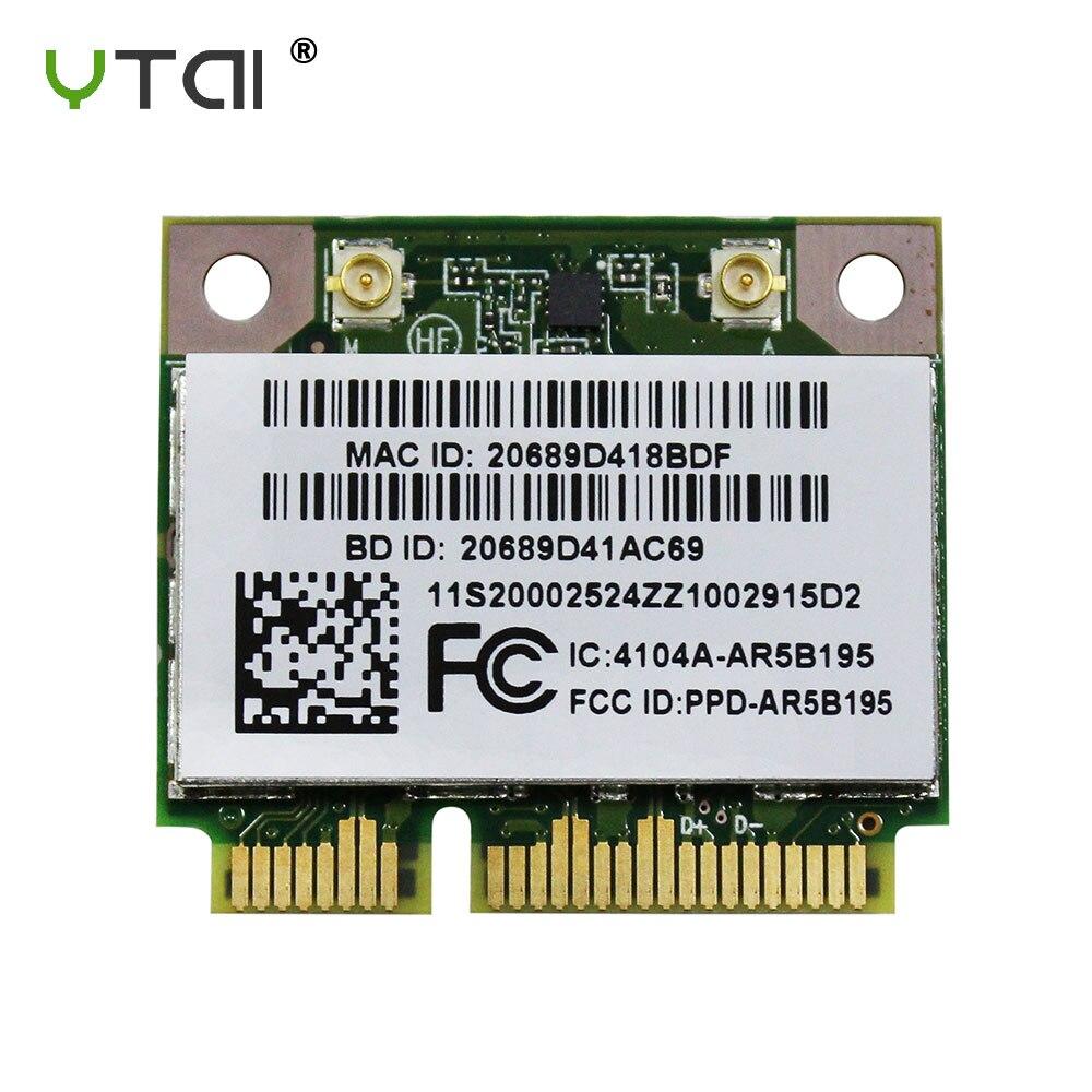 AR5B195 New WIFI Bluetooth 3.0 Wireless Card Atheros AR5B195 AR9285 half Mini PCI-E Card for Lenovo G470 G480 G580 Y470 Z480AR5B195 New WIFI Bluetooth 3.0 Wireless Card Atheros AR5B195 AR9285 half Mini PCI-E Card for Lenovo G470 G480 G580 Y470 Z480