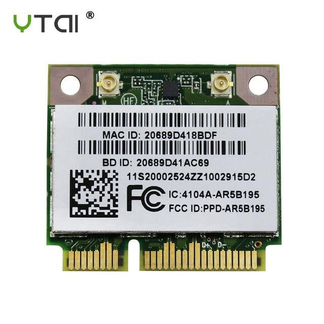 AR5B195 Yeni WIFI Bluetooth 3.0 Kablosuz Kart Atheros AR5B195 AR9285 yarım Mini PCI-E Kart Lenovo G470 için G480 G580 Y470 z480