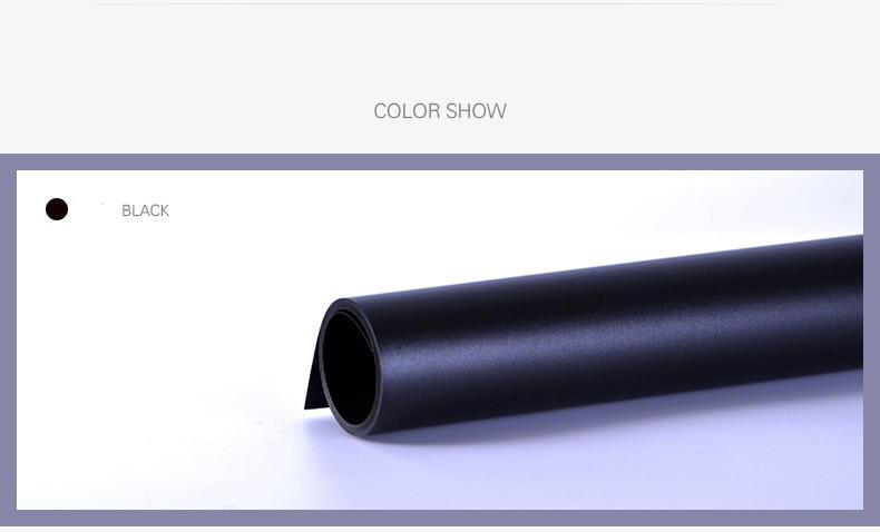 60cm x 125cm Black PVC Waterproof Anti-wrinkle Backgrounds Backdrop for Photo Studio Photography Background Equipment 50 50cm black matte pvc background for jewelry rings photo backdrop for jewelry mini items