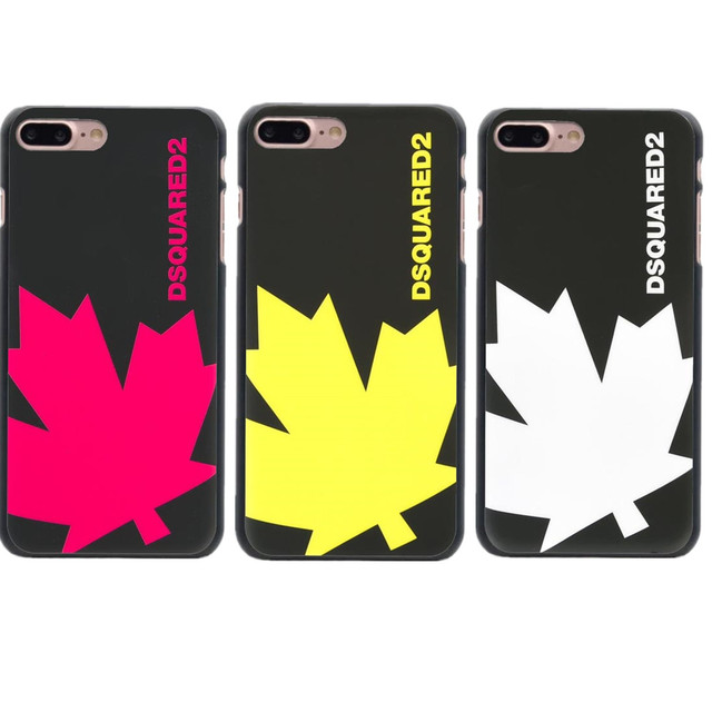 finest selection 448bb 46d59 US $1.55 40% OFF|Aliexpress.com : Buy New Arrival Milan Maple Dsquared  Ltaly Leaf Brand Black Hard PC Phone Case For iPhone X 10 5 5s SE 6 6s Plus  7 7 ...