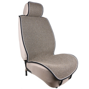 Image 3 - Artificial linen Auto Seat Cushion fit Most Cars Truck Suv or Van / 2 piece Front Car Seat Cover or 1 set back seat covers mat