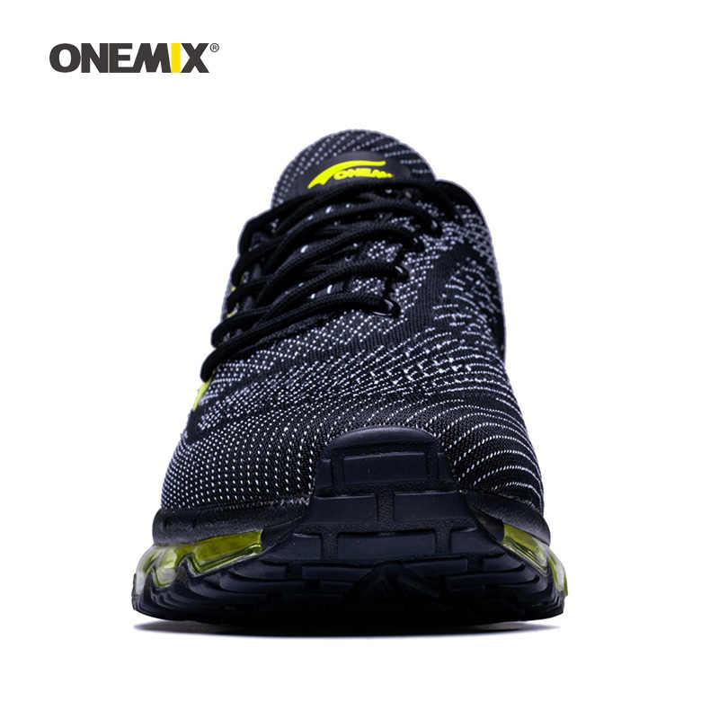 ONEMIX 2019 ماكس الرجال أحذية مشي للنساء وسادة اللياقة البدنية تريل المدربين رياضي التنس الرياضة الأسود رياضة الجري في الهواء الطلق