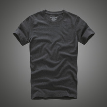 Men t shirt af 100% cotton solid O-Neck short sleeve tshirt high quality